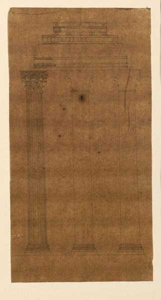 TURPIN DE CRISSE Lancelot Théodore Comte de (dessinateur, peintre) : Elévation d'une colonne