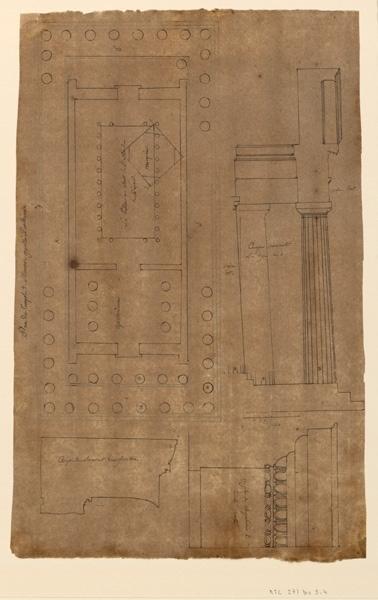 Plan du temple de Minerve au Parthénon