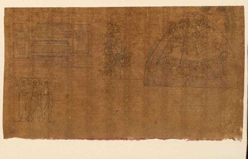 TURPIN DE CRISSE Lancelot Théodore Comte de (dessinateur, peintre) : Tombeaux de chrétiens trouvés dans les catacombes