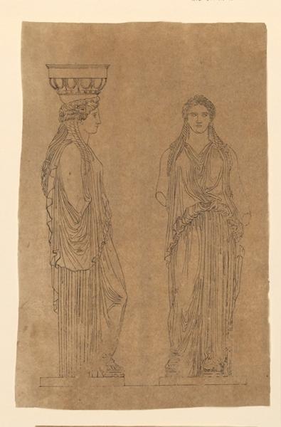TURPIN DE CRISSE Lancelot Théodore Comte de (dessinateur, peintre) : Cariatides