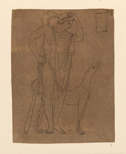 Femme au péplum et un chien_0