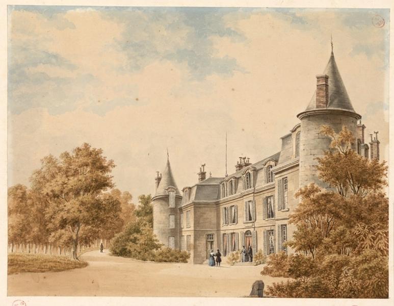anonyme (dessinateur) : Château des Rues avant la reconstruction