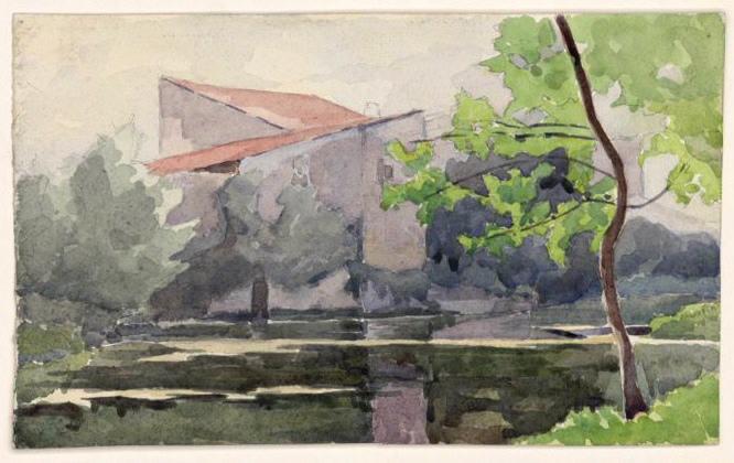 Bâtiment à toit de tuiles (Titre de M. Bardelot)