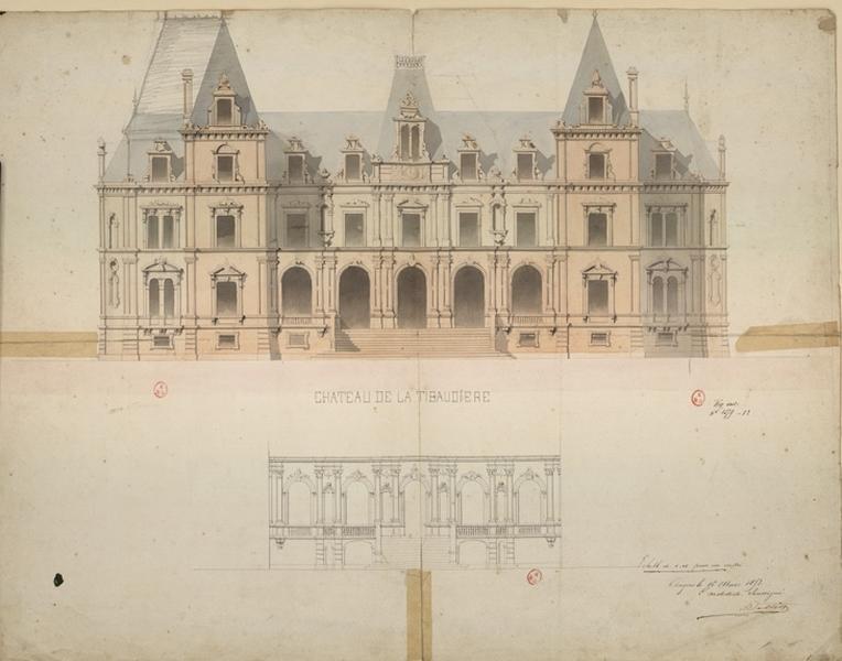 DELISLE (dessinateur), DELLIN (?, dessinateur) : Château de la Tibaudière