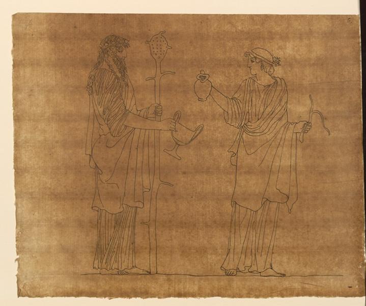 TURPIN DE CRISSE Lancelot Théodore Comte de (dessinateur, peintre) : Scène mythologique