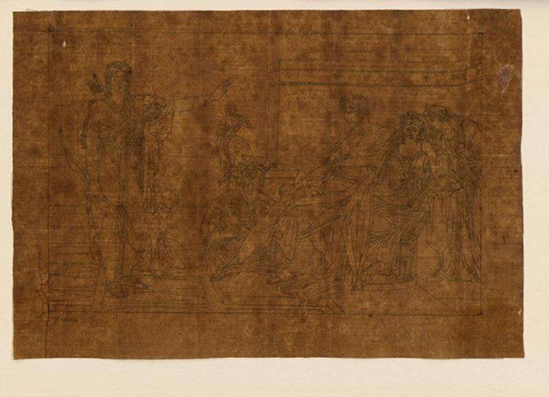 TURPIN DE CRISSE Lancelot Théodore Comte de, GUERIN Pierre Narcisse (d'après) : Copie de Phèdre et Hippolyte d'après Guérin