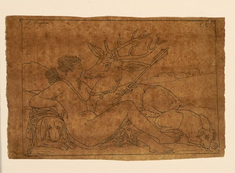 TURPIN DE CRISSE Lancelot Théodore Comte de, GOUJON Jean (d'après) : Diane au cerf, Copie d'après un bas-relief de Goujon