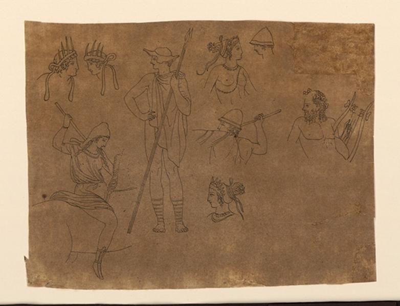 Etude de personnages antiques ; Scène mythologique_0