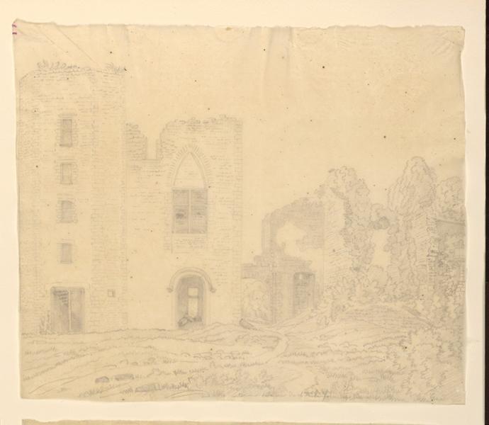 TURPIN DE CRISSE Lancelot Théodore Comte de : Une vieille ruine de château