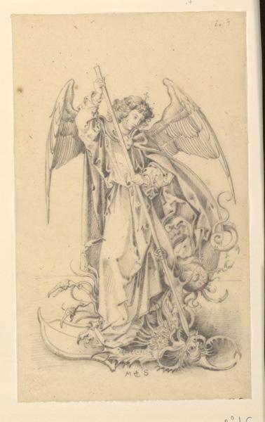 TURPIN DE CRISSE Lancelot Théodore Comte de, SCHONGAUER Martin (d'après) : Saint-Michel terrassant le démon