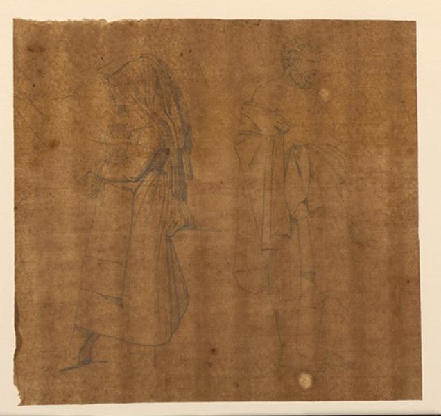 TURPIN DE CRISSE Lancelot Théodore Comte de : Poses d'hommes et de femmes italiennes dans des situations diverses