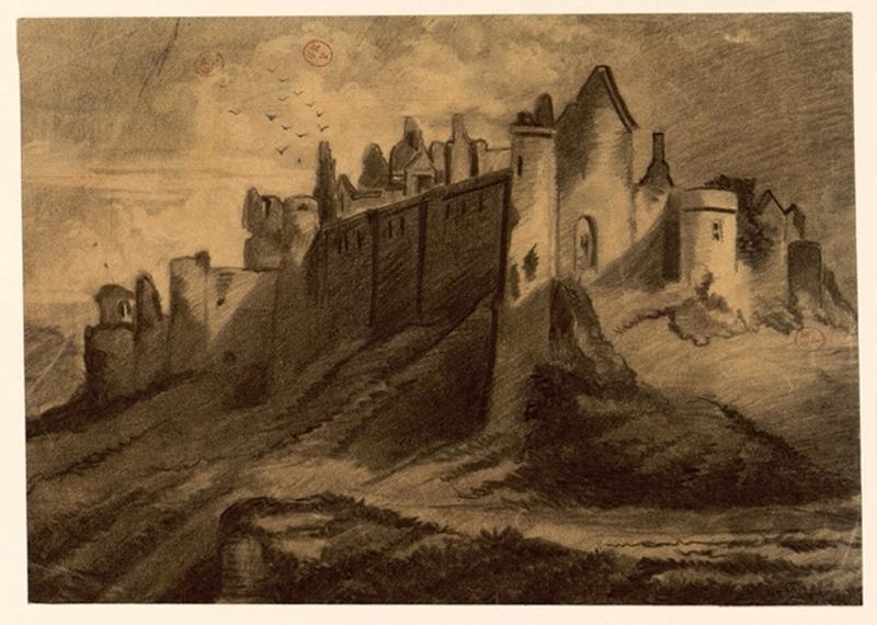Mortagne (vue d'un château)