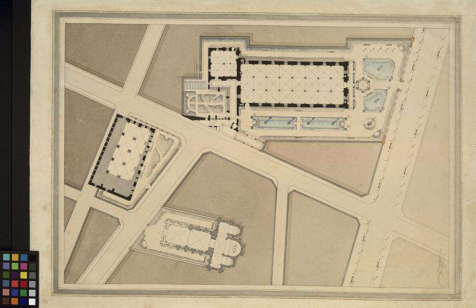 DUBOS Adrien (architecte) : Ancien hôpital Saint-Jean. Plan, Hôpital Saint-Jean