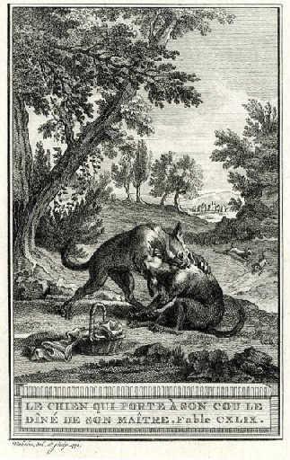 Le chien qui porte à son cou le diner de son maître, VIII, 7_0