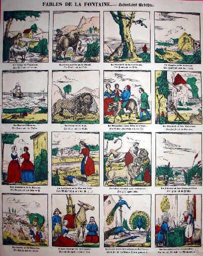 Fables de La Fontaine ; Lafontain's Gedichte (en allemand)_0