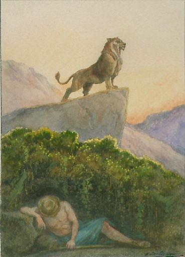 Le Pâtre et le Lion, VI, 1_0