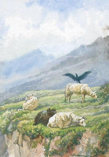 Le Corbeau voulant imiter l'Aigle, II, 16