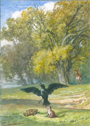 Le Corbeau, la Gazelle, la Tortue et le Rat, XII, 15 (livre XII, fable 15)_0