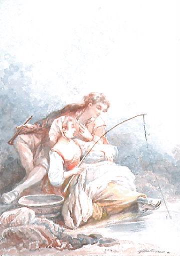 Les Poissons et le Berger qui joue de la flûte, X, 10 (Livre X, fable 10)_0
