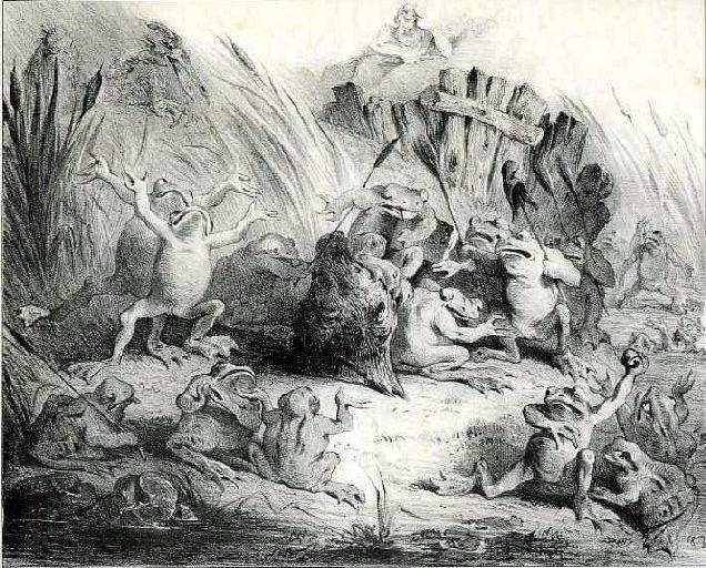 Les Grenouilles qui demandent un Roi, III, 4