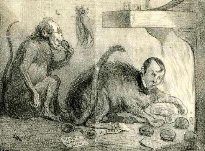 Croquis du Jour ; Le Singe et le Chat, IX, 17_0