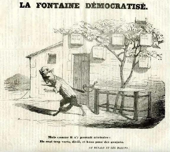 La Fontaine Démocratisé ; Le Renard et les Raisins, III, 11