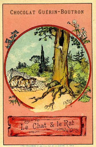 Le Chat et Le Rat, VIII, 22 (Le texte de la fable est reproduit au revers)_0