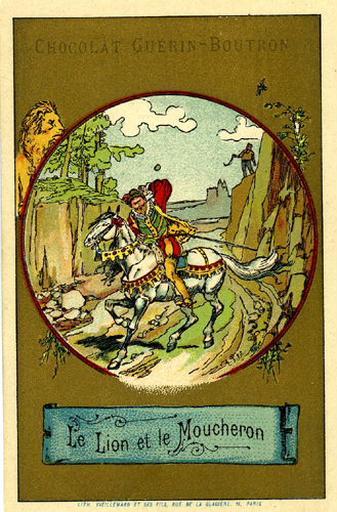 Le Lion et le Moucheron, III, 13 (Le texte de la fable est reproduit au revers)_0