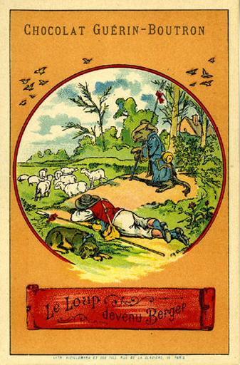 Le Loup devenu Berger, III, 3 (Le texte de la fable est reproduit au revers)_0