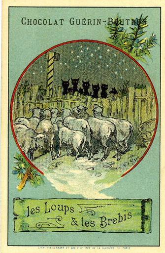 Les Loups et les Brebis, III, 13 (Le texte de la fable est reproduit au revers)_0
