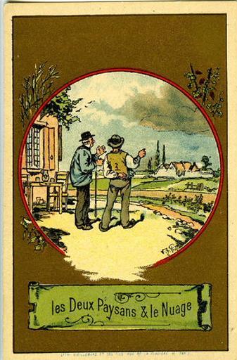 Les Deux Paysans et le Nuage (Le texte de la fable est reproduit au revers)_0