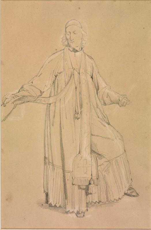 LEMASLE Louis Nicolas : Prêtre en surplis, debout, présentant le côté droit de son étole
