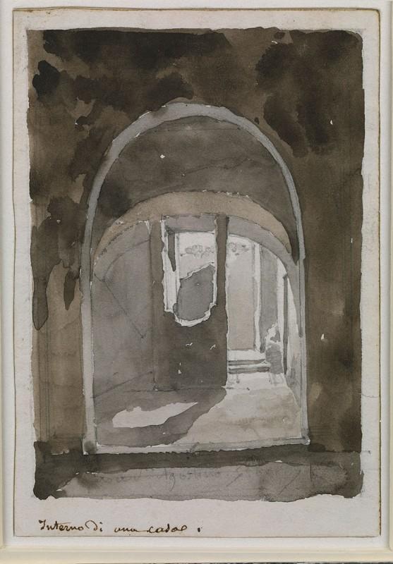 LEMASLE Louis Nicolas : Intérieur de maison