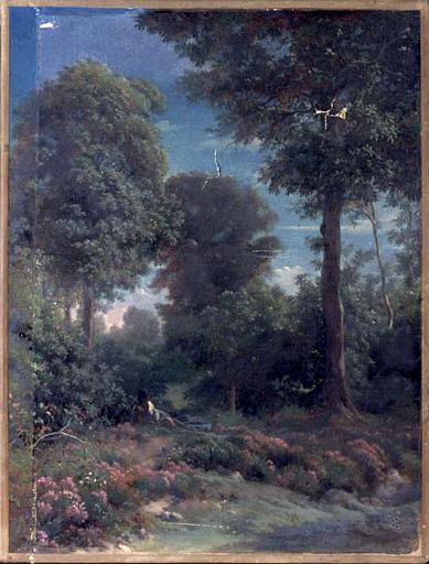 FLANDRIN Paul : Dans les bois