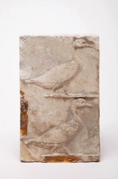 modèle de relief pour deux hiéroglyphes