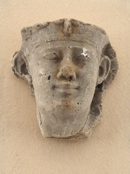 Modèle de ronde-bosse pour visage de roi coiffé d'un némès_0