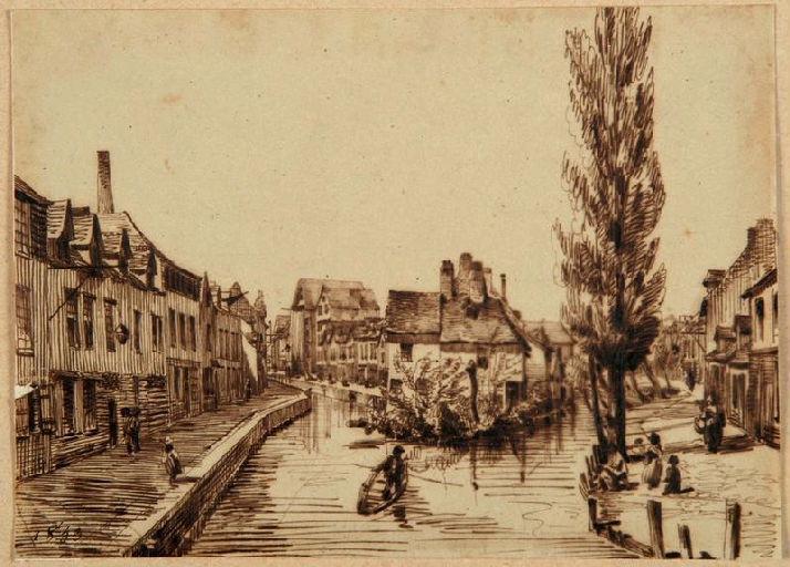 Amiens : la rue des Marissons ; Amiens : rue des Marissons, 1853_0