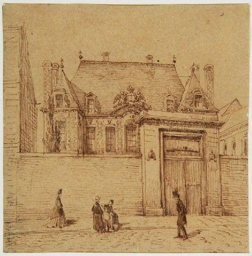 Amiens : l'ancien hôtel des Trésoriers de France, rue Saint-Denis ; Amiens : ancien hôtel des Trésoriers de France, rue saint-Denis, (vers 1850)_0