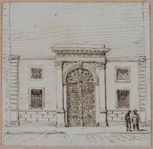 Amiens : le portail de l'hôtel de M. A. de Morgan, rue Neuve, (vers 1850) ; Amiens : rue Neuve. Hôtel de Mr A. de Morgan_0