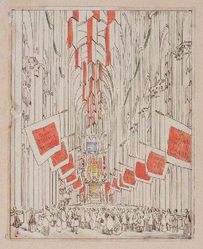 Amiens : la nef de la cathédrale lors de la translation des reliques de sainte Theudosie le 12 octobre 1853, (1853) ; Amiens : intérieur de la Cathédrale, lors de la translation des reliques de sainte Theudosie en 1853. La Nef_0