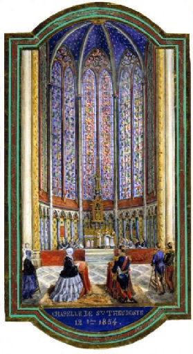 Amiens : consécration de la chapelle Sainte-Theudosie à la cathédrale, en présence de l'empereur Napoléon III et de l'impératrice, le 12 octobre 1854, 1854_0