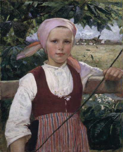 Portrait d'une jeune Suédoise_0