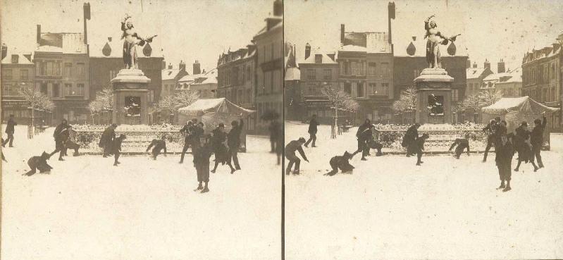 Place Marie Fouré pendant l'hiver