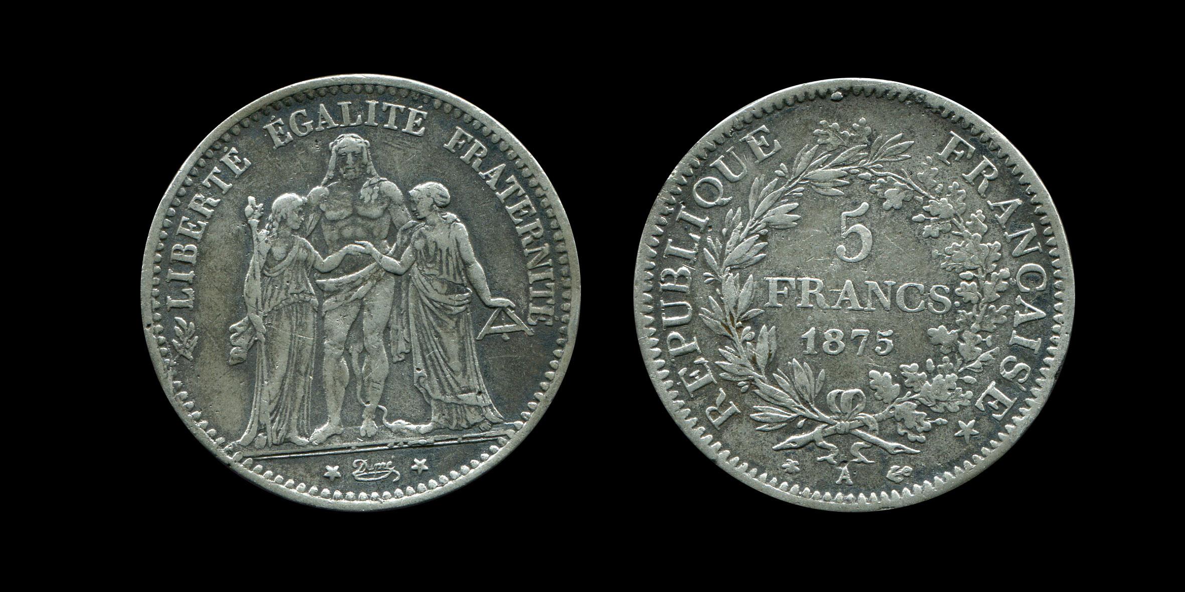 Troisième République 5 francs type Hercule_0