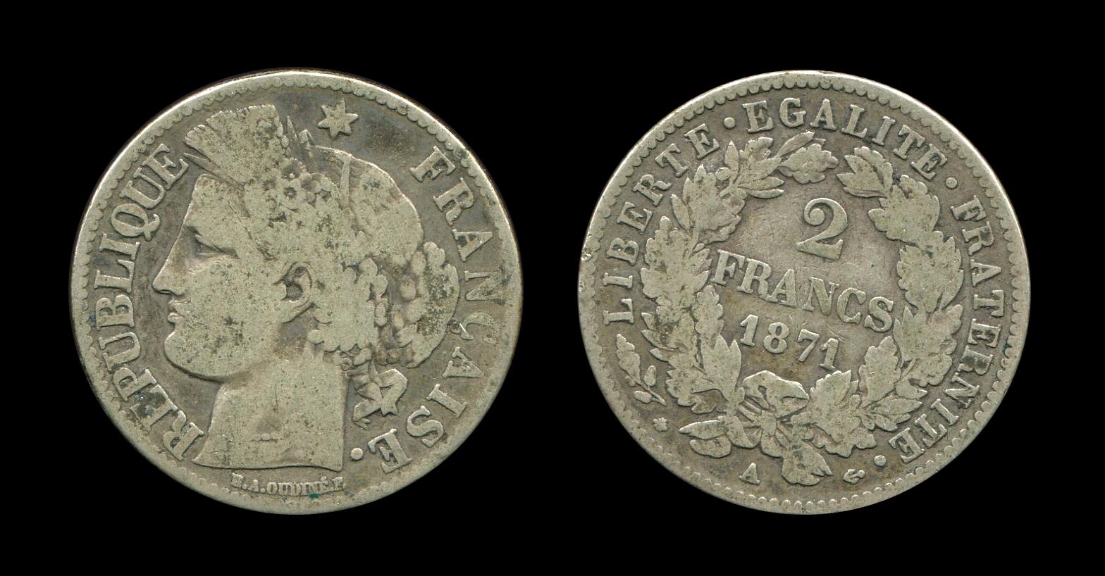 Troisième République 2 francs type Cérès_0