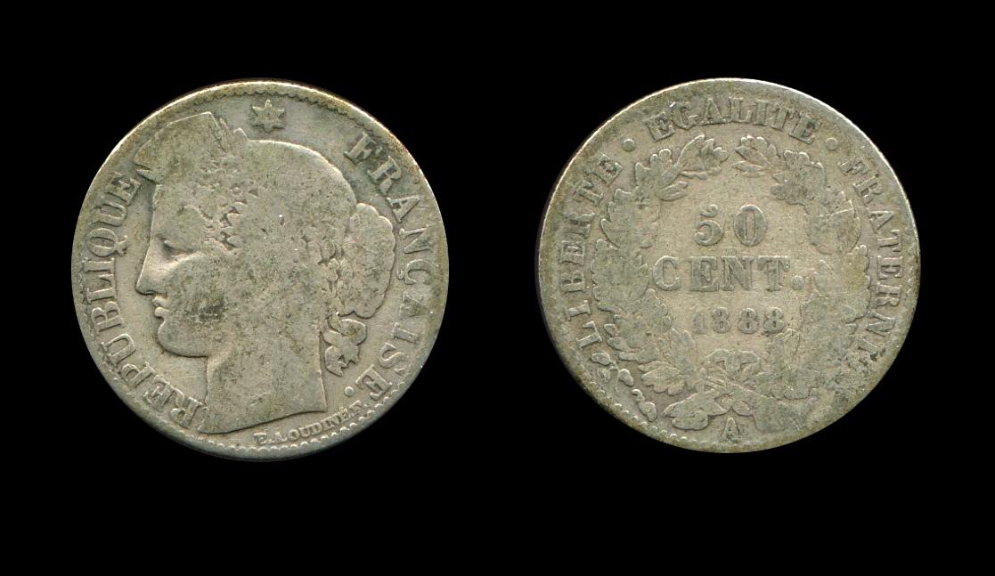 Troisième République 50 centimes type Cérès_0