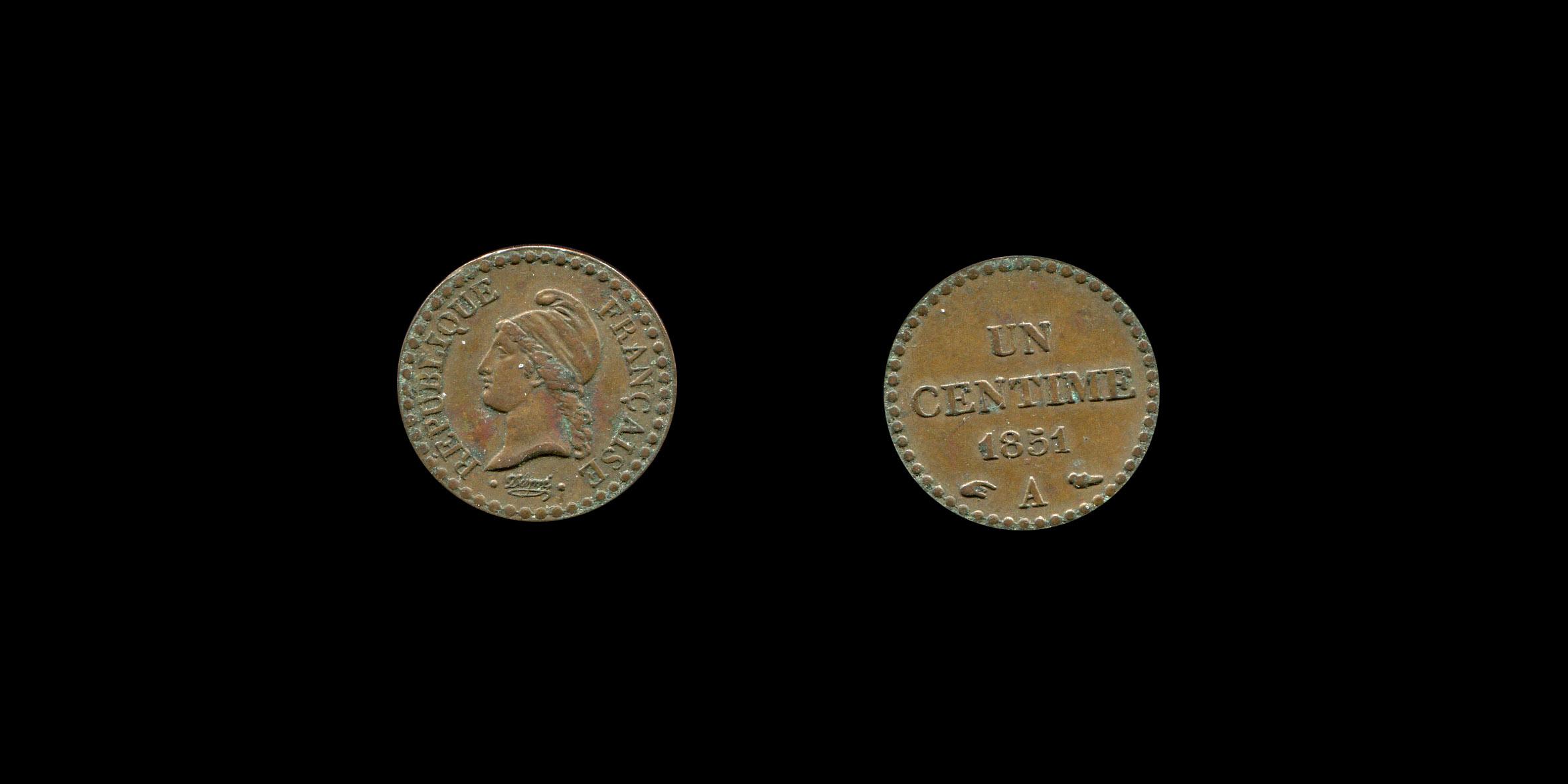 Deuxième République un centime type Dupré_0