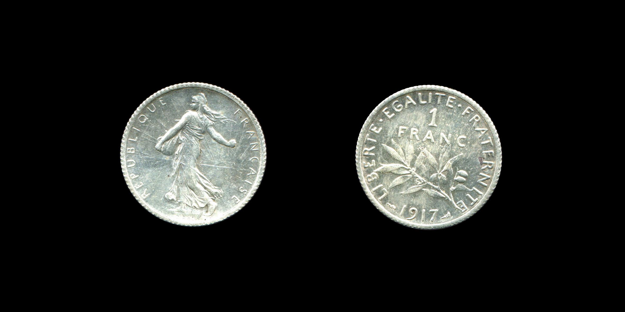 Troisième République un franc type Semeuse