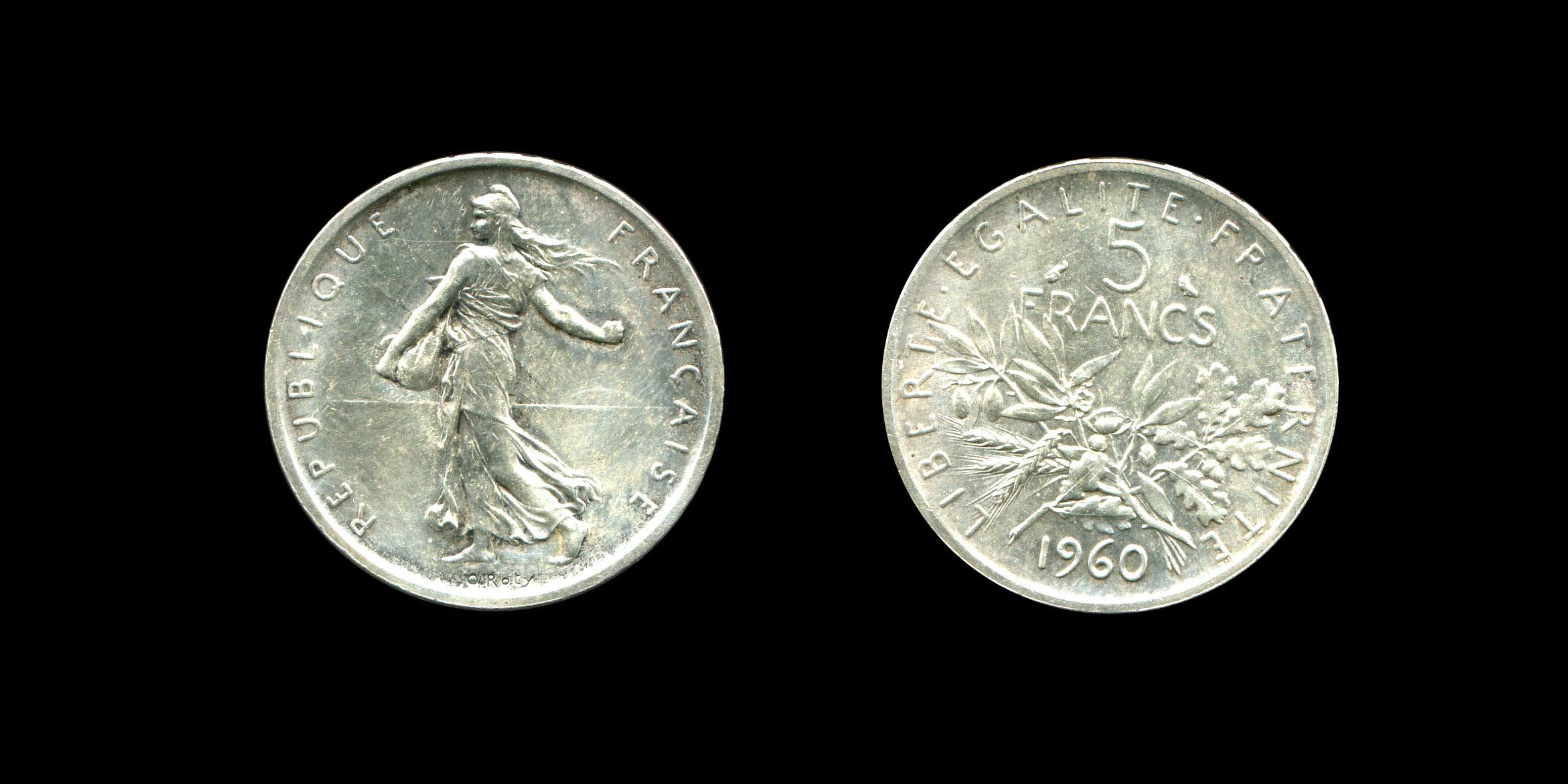 Troisième République cinq francs type Semeuse_0