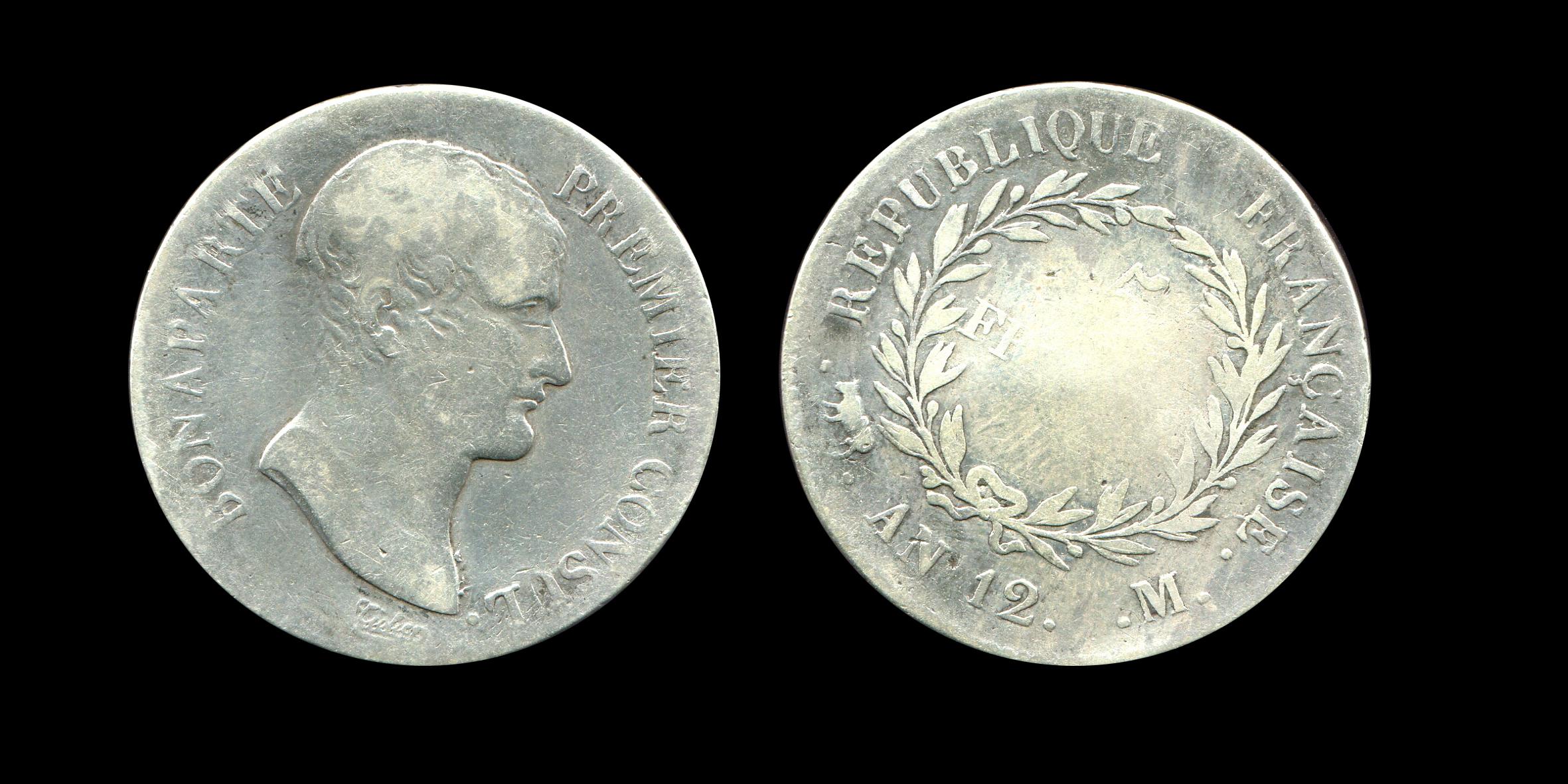 Napoléon Ier 5 francs type Bonaparte premier consul